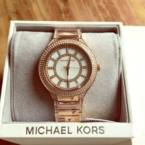 Auth. Michael Kors Rose Gold Watch